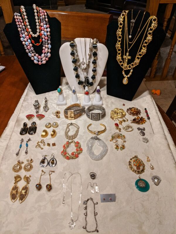 VINTAGE TO MODERN JEWELRY LOT + STERLING SILVER +10k (#4)