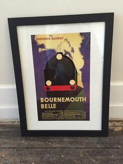 Quality framed vintage train prints - Art Seddon Maribyrnong Area Preview