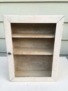 Old Bathroom Wood Medicine Cabinet First Aid box