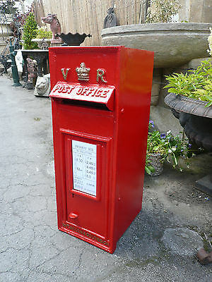 Royal mail Post Box  Victorian design VR Rear Door Red