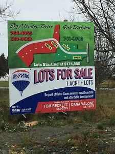 Outer Cove 1 Acre + Building Lots