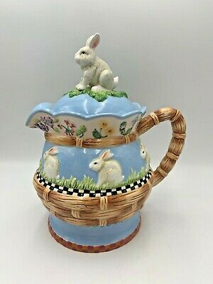 Peggy Fairfax Herrick House of Hatten BUNNY Rabbit Pitcher Teapot