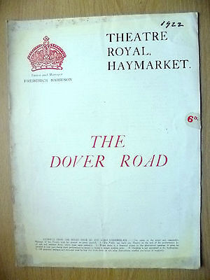 Theatre Royal, Haymarket Programme -THE DOVER ROAD by A A Milne
