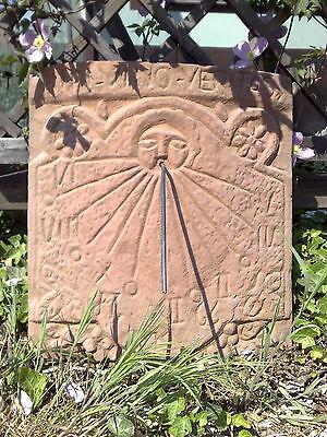 Sonnenuhr Platte Trauben Antik Sandstein Look Steinguß Wandbild C 04