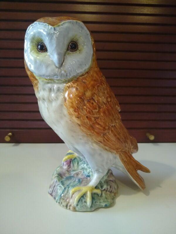 Beswick England #1046 Large Barn Owl Painted Porcelain Bird Figurine