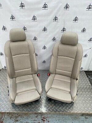 BMW 5 SERIES F10 F11 LCI FRONT M SPORT LEATHER SEATS HALF ELECTRIC HEATED CREAM