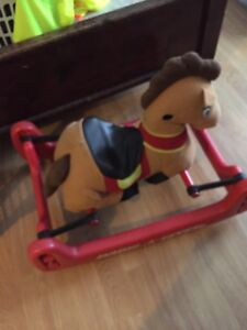 Rocking horse and toddler chair