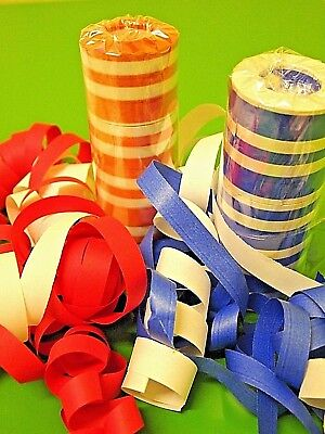 ROT/WEISS und BLAU/WEISS wechselnd - Partydeko ! Karneval ! (Blaue Und Weiße Luftschlangen)