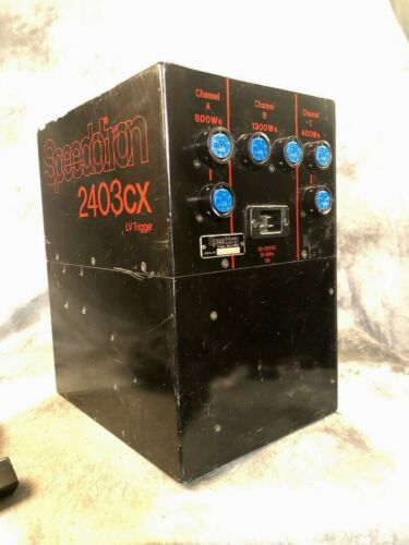 Speedotron 2403cx LV Power Supply - 2400ws BLACK LINE