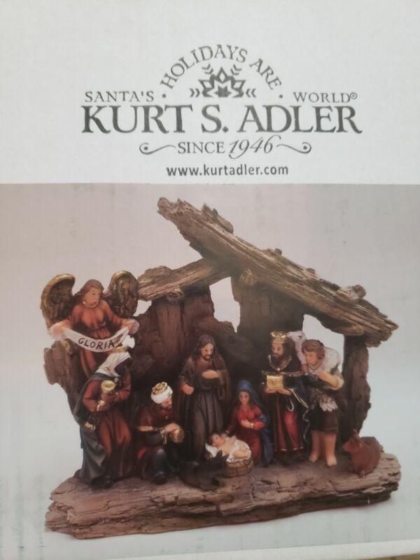 Kurt S. Adler Kurt Adler 7-Inch Resin Table 1 Piece Stable Nativity Set