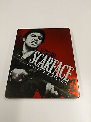 Scarface Blu-ray/DVD STEELBOOK 2-Disc Set Limited Edition Al Pacino Used.