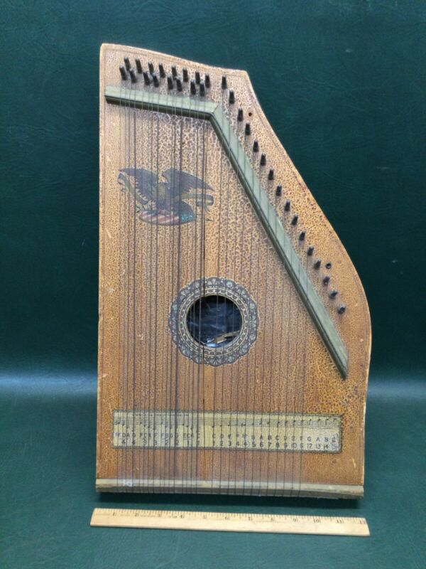 Antique A.R. Yendrick & Co. Club Special Mandolin Harp ~ With Eagle Decoration