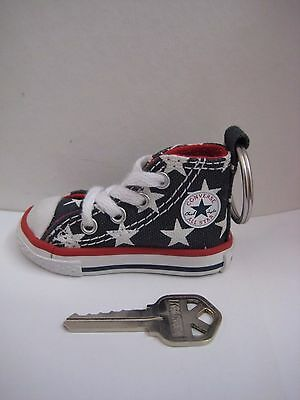 Converse All Star Keychain Chuck Taylor Key Chain NAVY STARS 100% Authentic