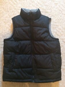 Black fleece lined, puffy vest - size large