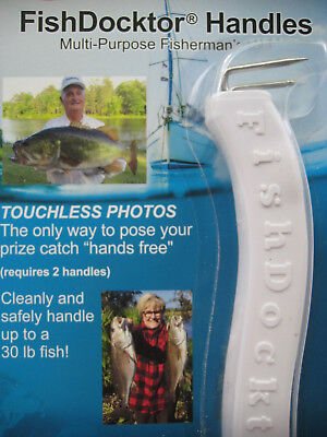 """2 FISH DOCKTOR ® Fishing & Outdoors """"No Touch"""" Cleaning Sanitary Handling Tools!"""