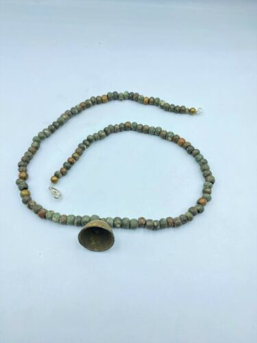 Old Vintage Jewelry Ancient Antique Bronze Beads Necklace From Bronze Age