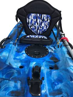 65mm SUPER Deluxe Kayak Seat - Tall Back - Comfy - Sale $129