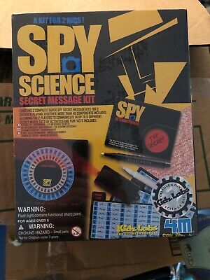 Spy Science Secret Message Kit A Kit for 2 Complete Kits for 2 Kids NEW Sealed