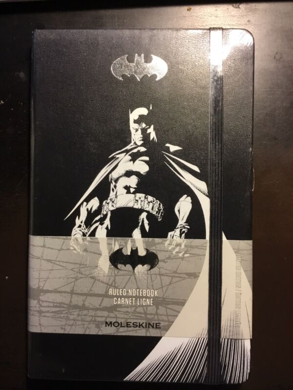 """Moleskine, Batman, 5"""" x 8"""" Ruled Notebook 240 Pages w stickers new sealed"""