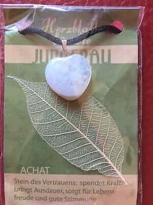 Halskette für Jungfrau Achat ,neu (Halsketten Für Jungen)
