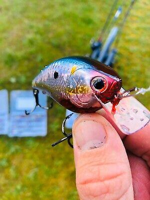 Custom Painted Crankbait Lipless TN Colorshift Trout Owner Hooks