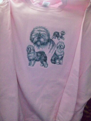 Old English Sheepdog Sketch Personalized Sweatshirt  Embroidered ALL SIZES