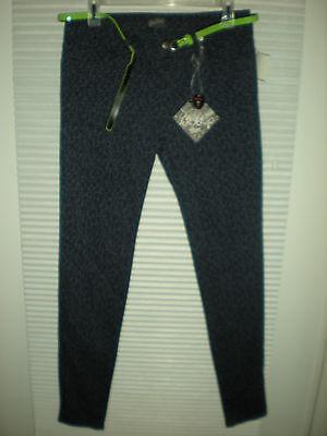 Belted Print Jeans - BeBop Size Junior 5 Print Jeans in Skinny Fit Belt Included Tags!!!