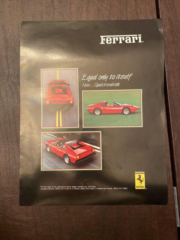 1983 Ferrari 308 GTSi Brochure Original Excellent Condition