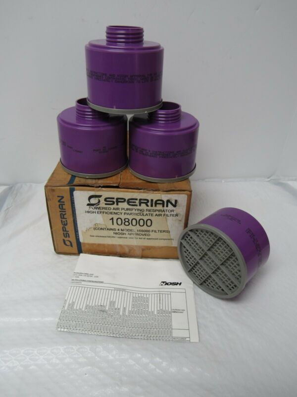 SPERIAN 108000 HIGH EFFICIENCY PARTICULATE AIR FILTER-BOX OF 4
