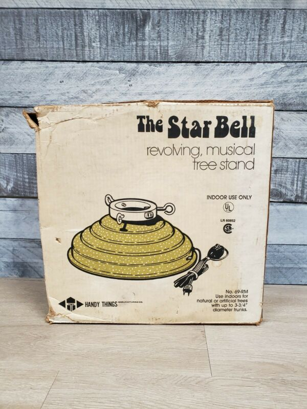 Handy Things Star Bell Revolving Musical Christmas Tree Stand