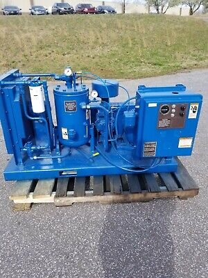 Used 20-hp Curtis Open Skid Rotary Air Compressor 230460 Volt