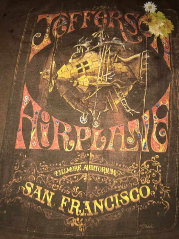 JEFFERSON AIRPLANE Retro T Shirt HAIGHT ASHBURY Psychedelic Poster Art MEDIUM W