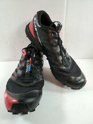 Salomon S-Lab FellCross 3 Trail Running Shoes Men's Size 7.5 Women's 8.5 Black