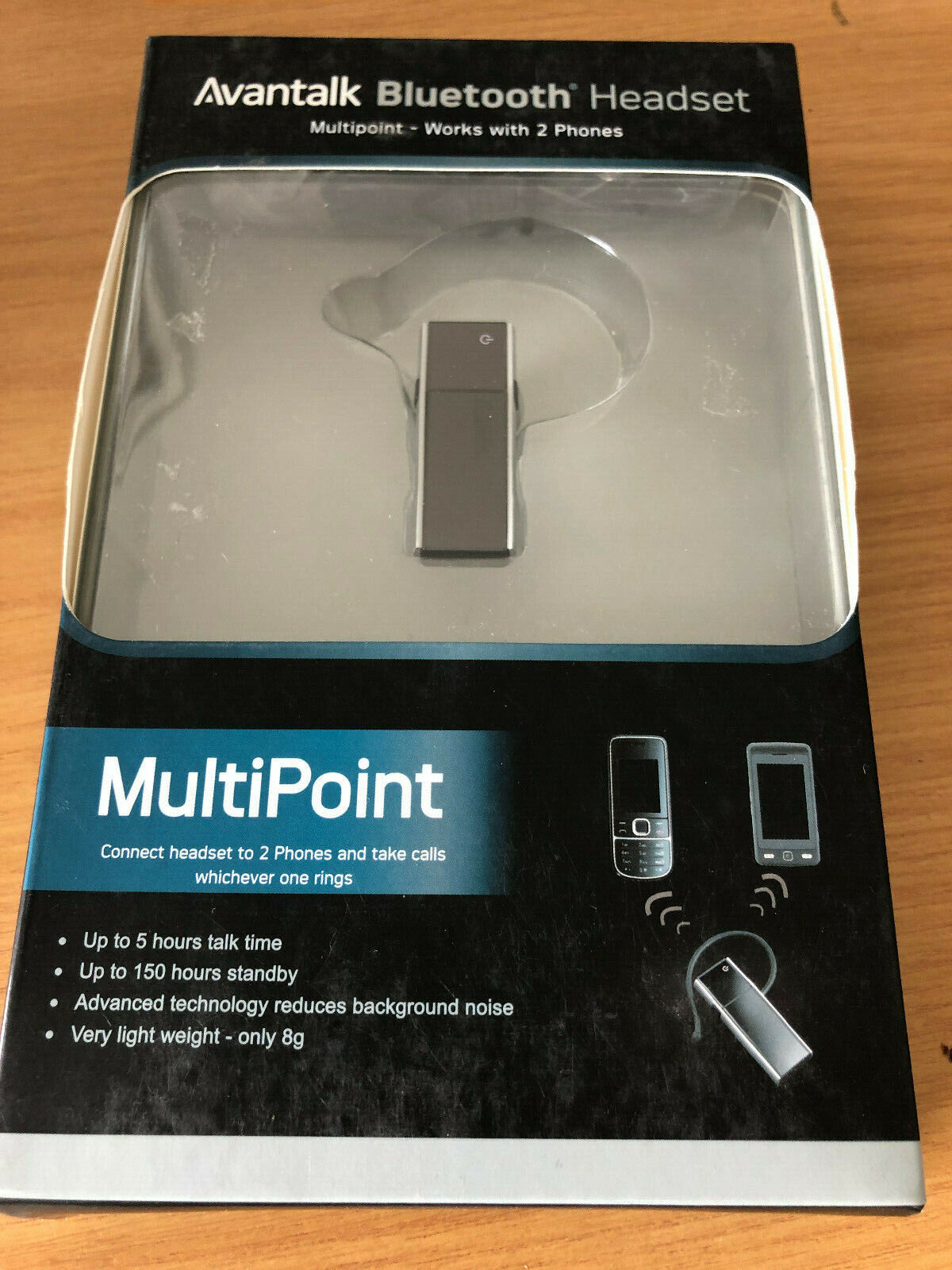 Avantalk Multipoint Bluetooth Headset 4 Smartphones Connect 2 Phones At Same Ebay