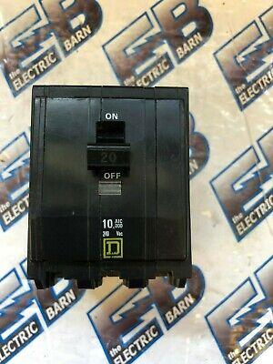 Square D Qo320 20 Amp 240 Volt 3 Pole Yellow Circuit Breaker - Warranty