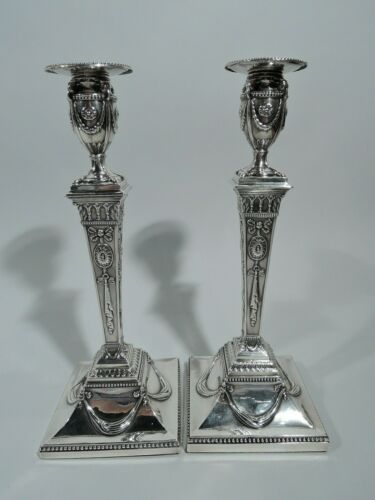 George III Candlesticks - Antique Pair - English Sterling Silver - Scofield 1779