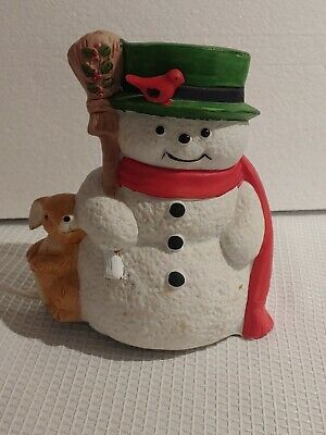 Ceramic Snowman light up Christmas decorations