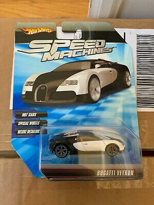 Hot Wheels Speed ​​Machines Bugatti Veyron Black White Gold VHTF
