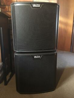 "TWO Alto TS212S 12"" 1250W Powered Subwoofers (can post aus wide)"