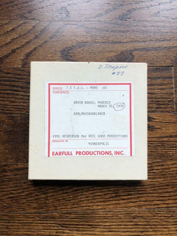 Vintage 1978 David Bowie - Reel To Reel 7.5 IPS
