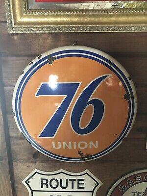 Vintage Porcelain Gas And Oil Union 76 Sign