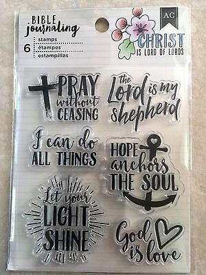 Bible Crafts (American Crafts BIBLE JOURNALING CLEAR STAMPS PRAY GOD IS LOVE)