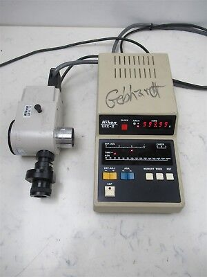 Nikon Ufx-ii Lab Microscope Photography Microscopy Exposure Monitor Optiphot
