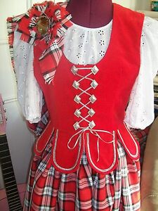 Girls New Made to  Measure Highland Dancing Aboyne Waistcoat/Vest(Var. Styles)