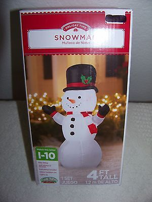 Snowman Christmas Inflatable 4 Ft Tall Yard Decoration - In Box