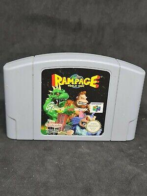 Nintendo 64 Rampage World Tour N64 PAL only Cartridge VGC