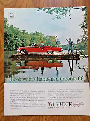 1961 Buick Invicta or LeSabre Convertible Ad  Look What's Happened to Route 66