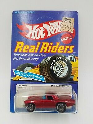 Hot Wheels Real Riders '57 T-Bird #4357 ©1982 - UNPUNCHED! NEAR MINT!! NOS!!!