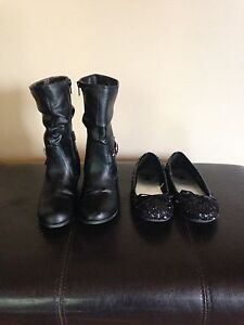 Girls size 3 boots and dress shoes