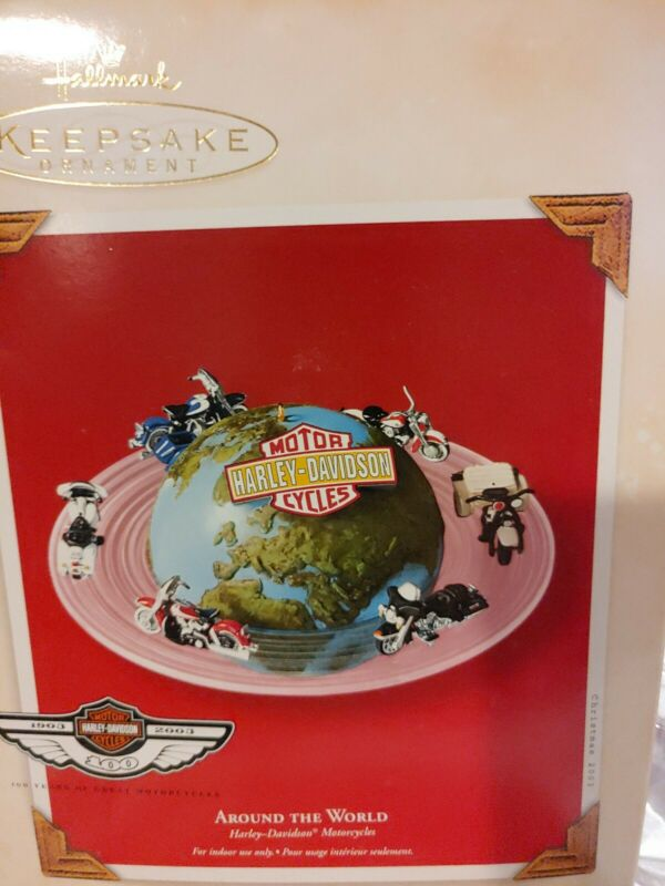 2003 Hallmark Keepsake Harley Davidson Around The World Christmas Ornament